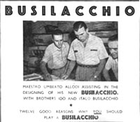 Busillachio Advert featuring Umberto Allodi